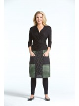 Trish A line Cotton Skirt - Domino  Print
